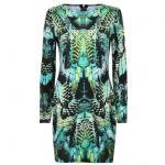 Ex Lipsy Green Animal Abstract Printed Bodycon Sexy Party Mini Dress